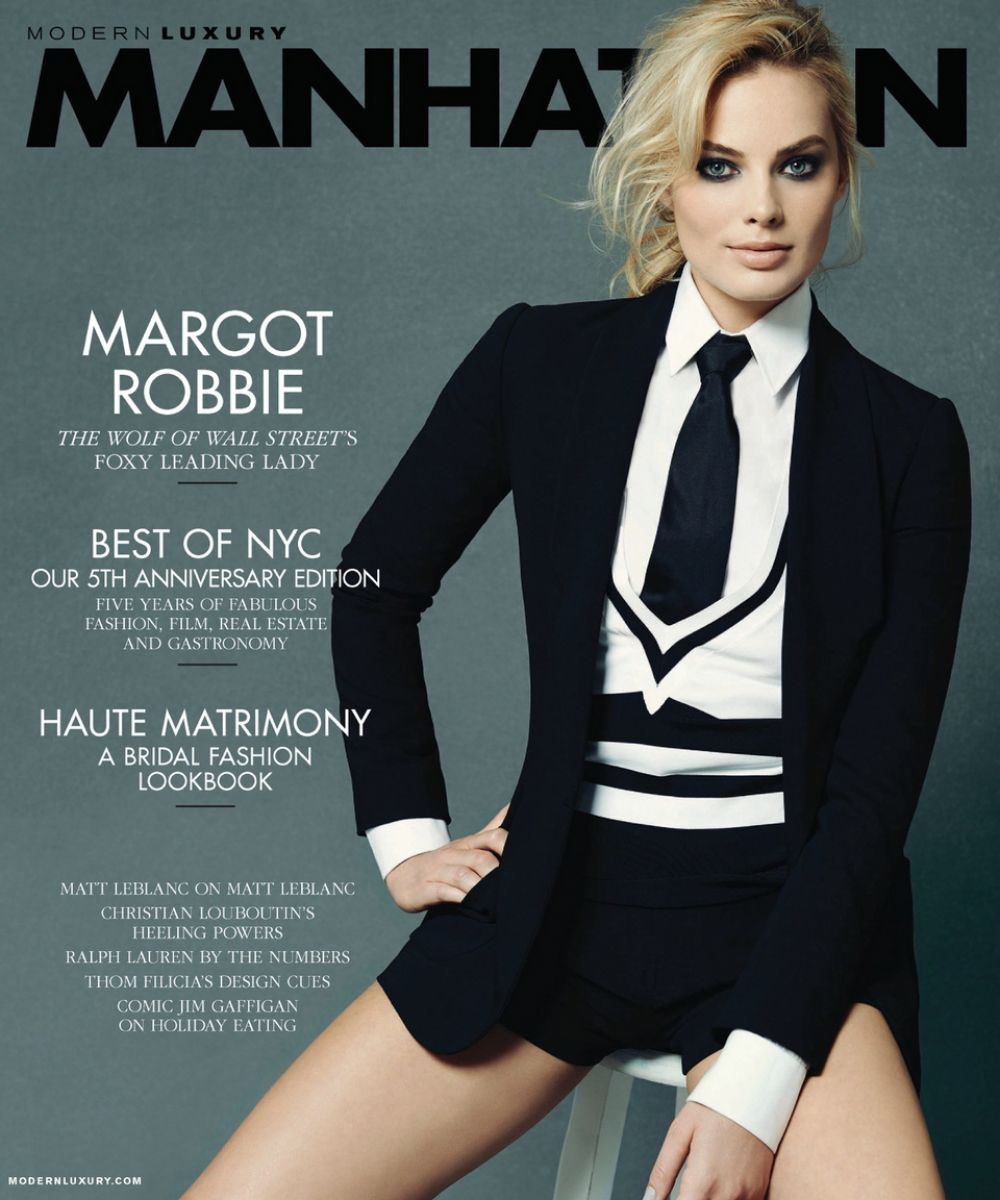 MARGOT ROBBIE in Manhattan Magazine, January/february 2014 Issue