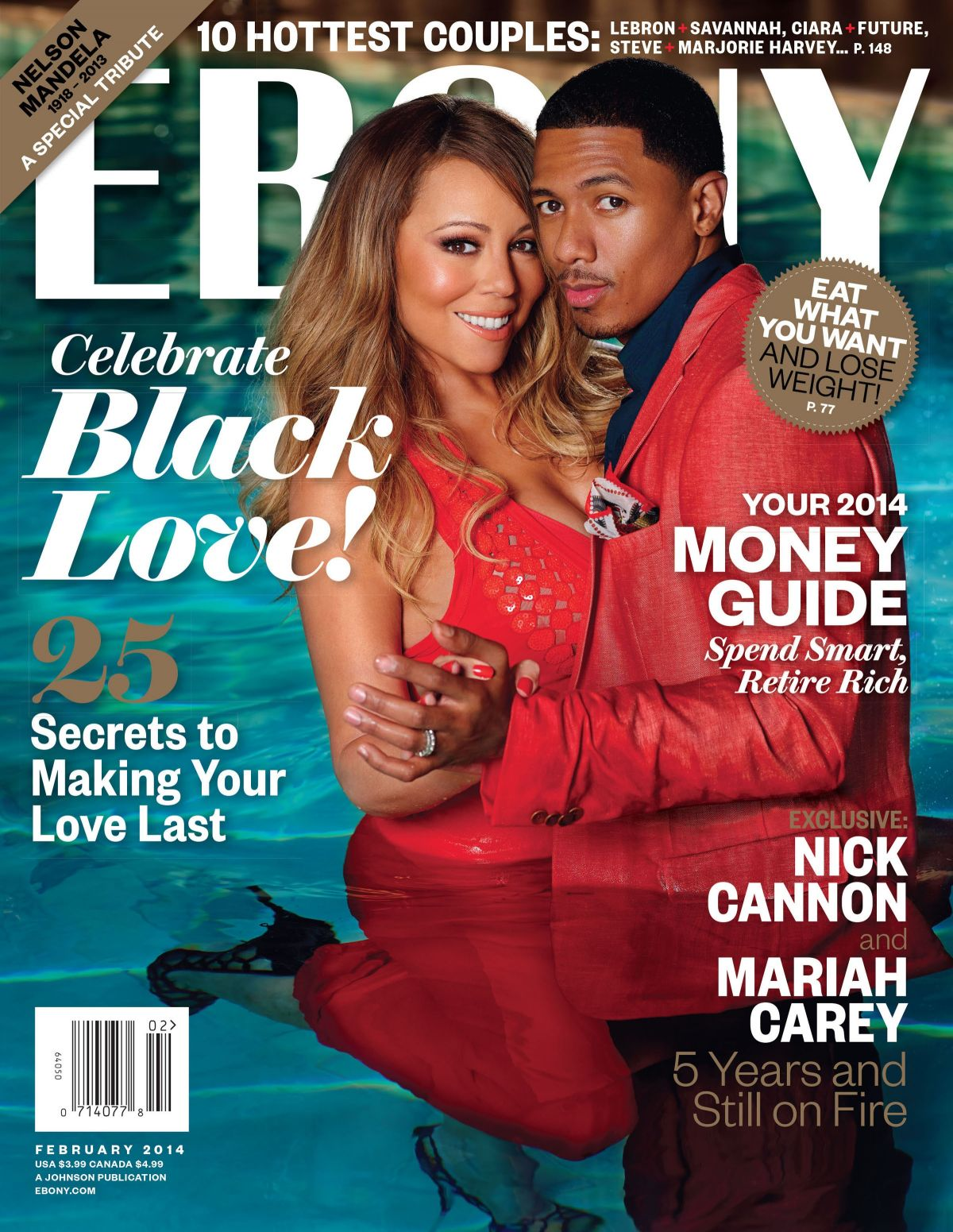 MARIAH CAREY on the Cover Ebony Magazine, February 2014 Issue