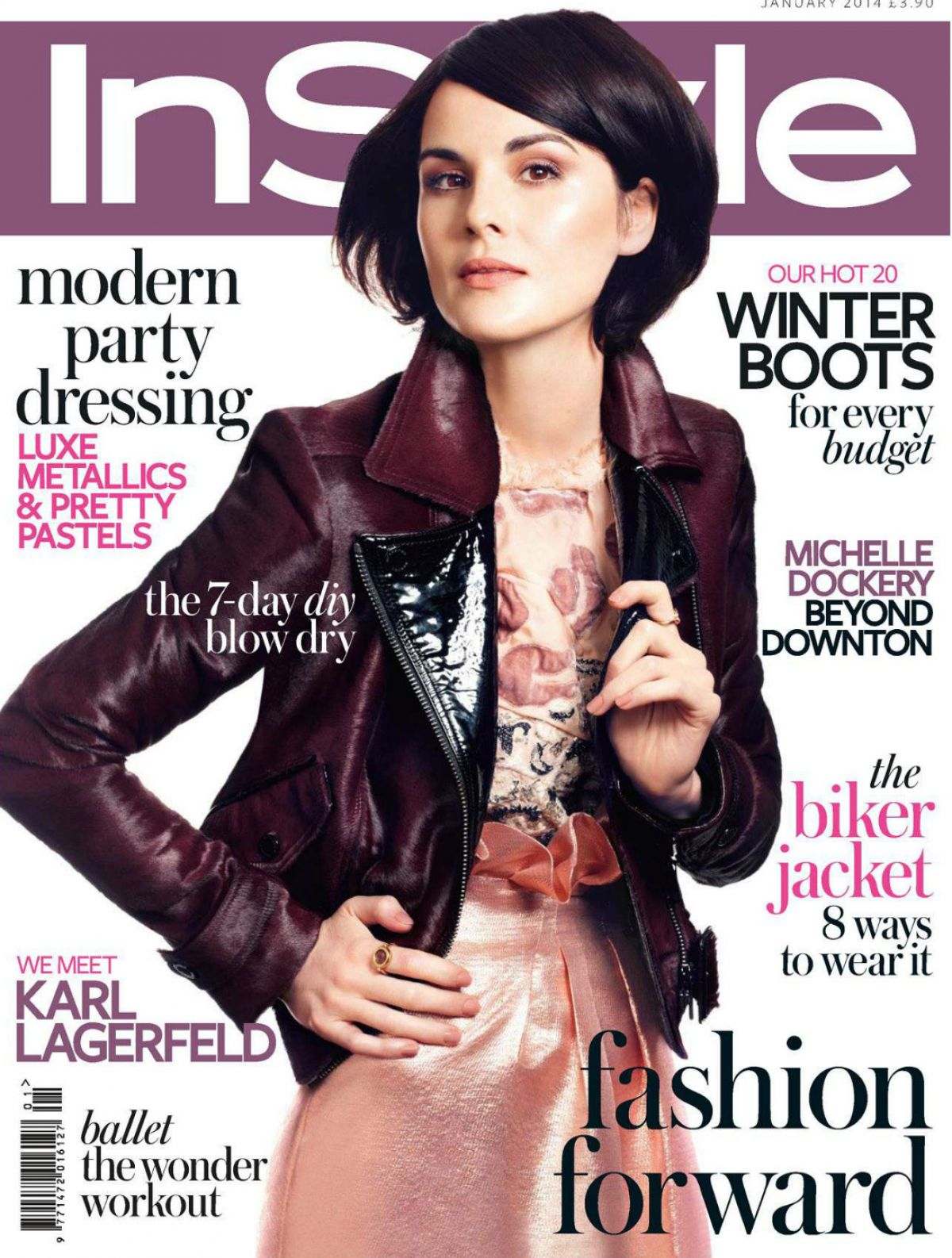 MICHELLE DOCKERY In Instyle Magazine, UK January 2014