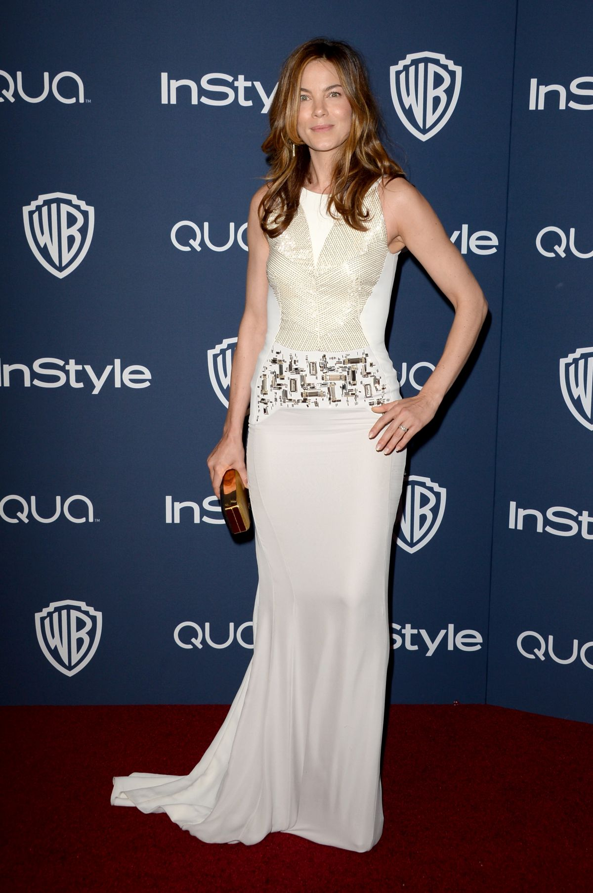 MICHELLE MONAGHAN at Instyle and Warner Bros. Golden Globes Afterparty
