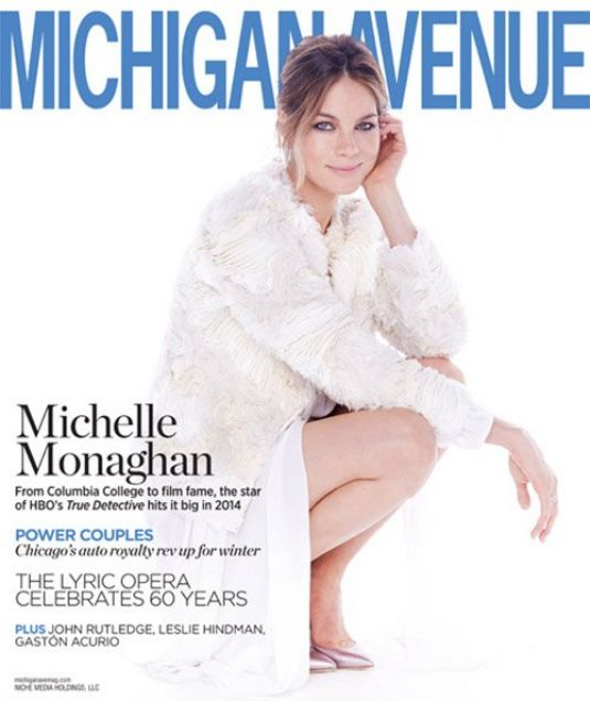 MICHELLE MONAGHAN in Michigan Avenue Magazine, Winter 2014 Issue