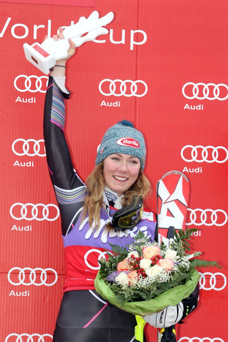 MIKAELA SHIFFRIN at Audi FIS Wworld Cup Women