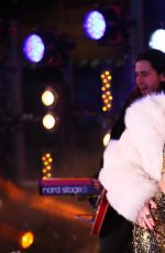 MILEY CYRUS Performs at Dick Clark's New Year's Rockin' Eve with Ryan Seacrest in Los Angeles