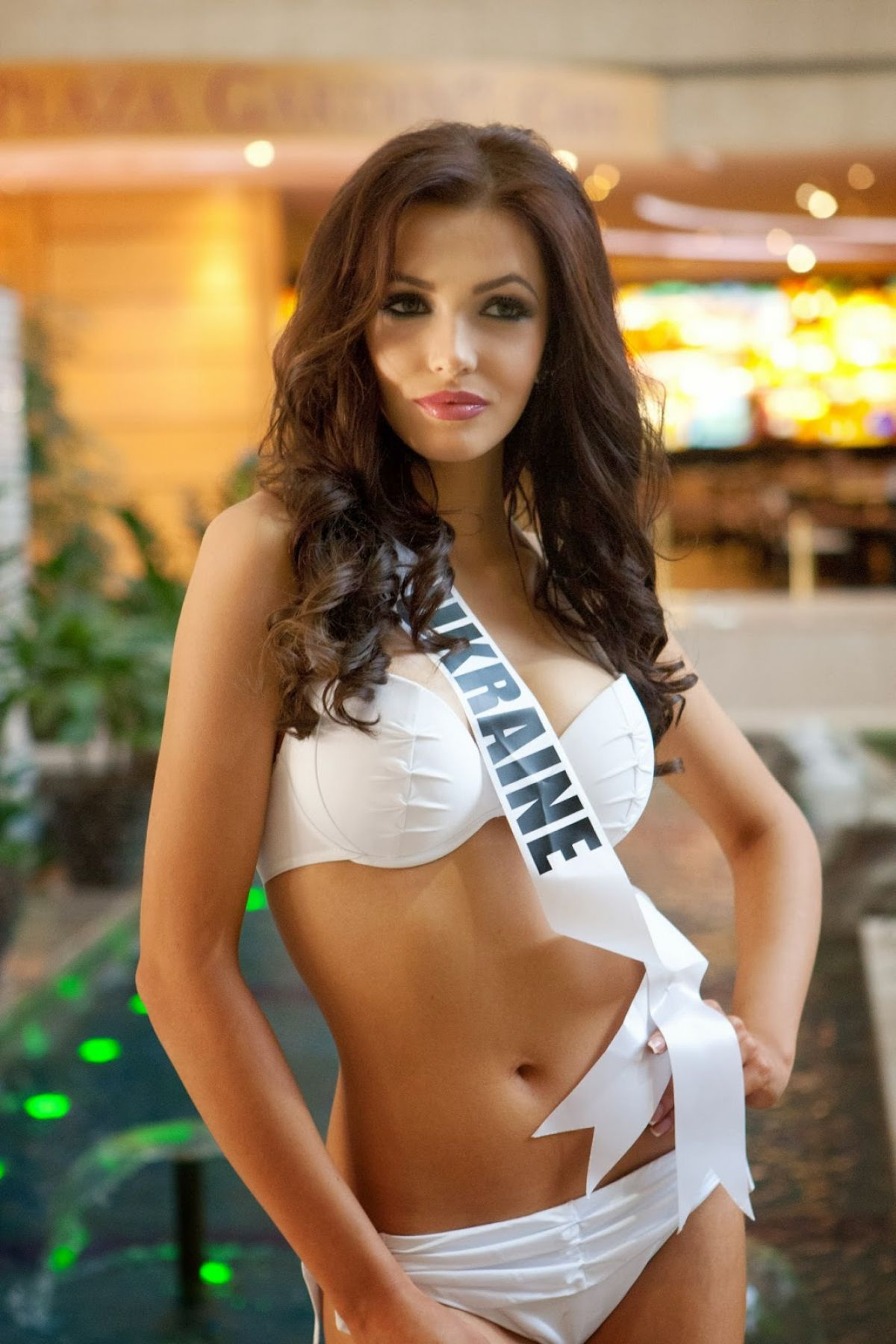 Miss Ukraine OLGA STOROZHENKO - 2014 Yamamay Swimwear for Miss Universe