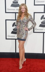 Nancy O'Dell at 2014 Grammy Awards in Los Angeles
