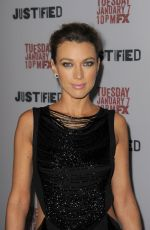 NATALIE ZEA at Justified Season 5 Premiere in New York