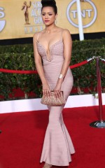 Nathalie Emmanuel at 20th Annual Screen Actors Guild Awards in Los Angeles