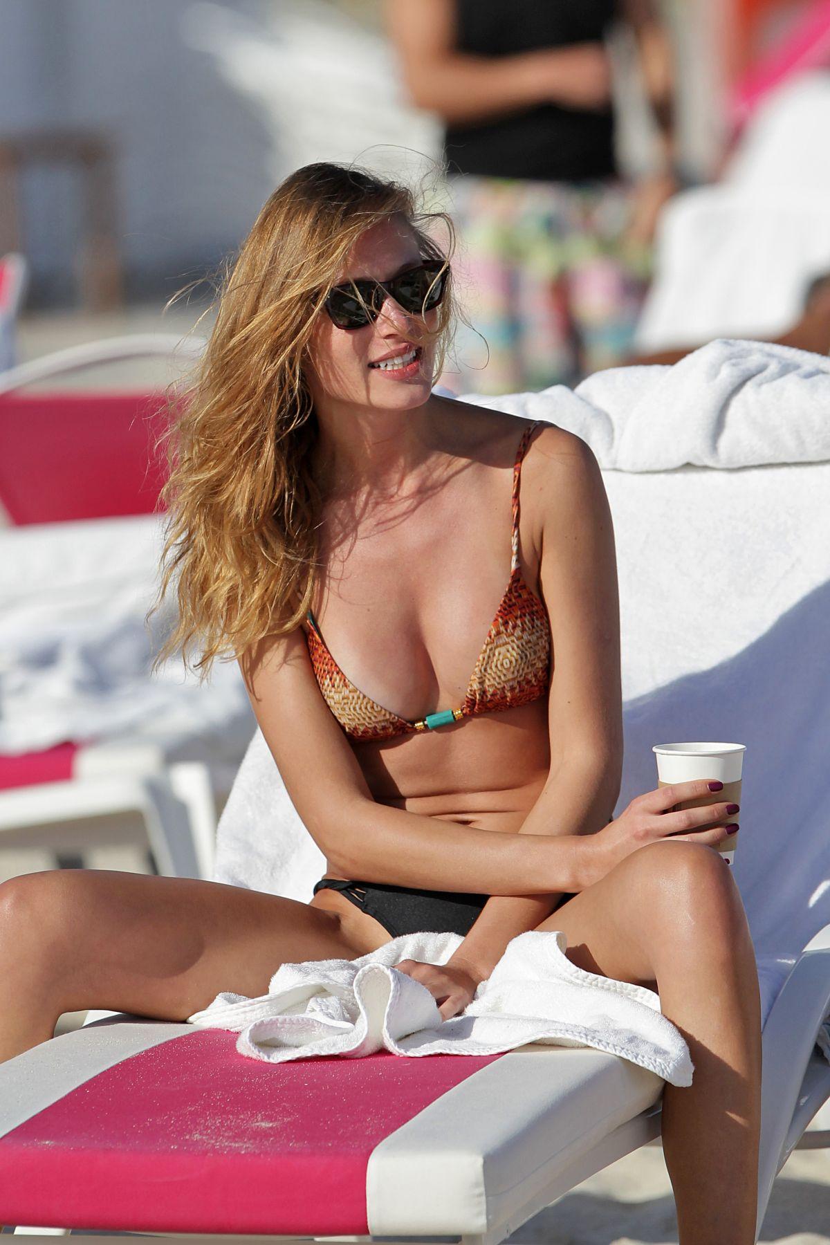 OLGA KENT in Bikini in Miami Beach