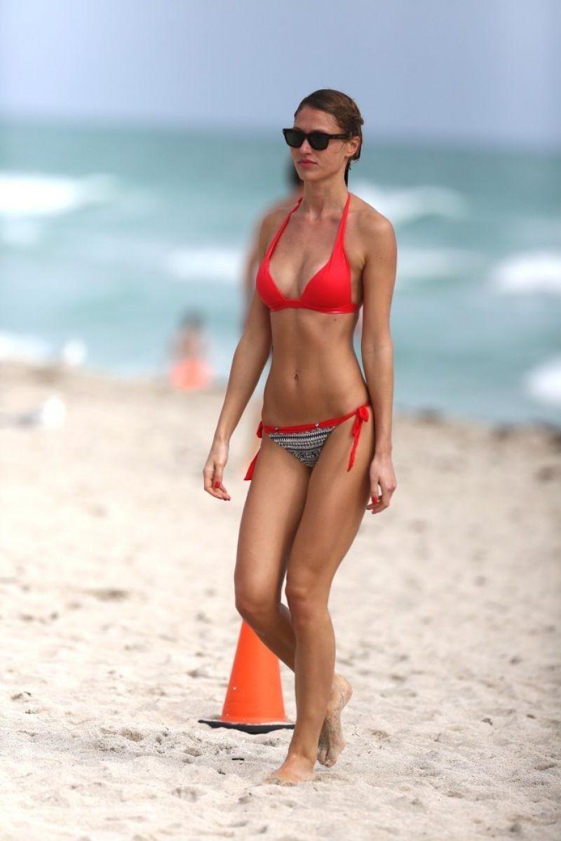OLGA KENT in Bikini on the Beach in Miami