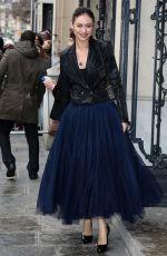 OLGA KURYLENKO at Jean Paul Gaultier Fashion Show in Paris
