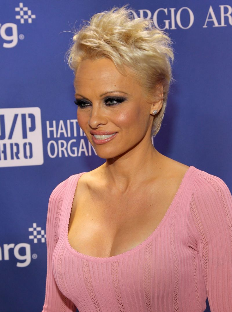 PAMELA ANDERSON at 3rd Annual Help Haiti Home Gala Benefiting in Beverly Hills