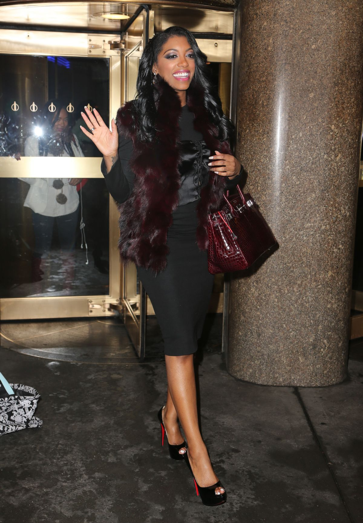 PORSHA WILLIAMS Leaving NBC Studios in New York