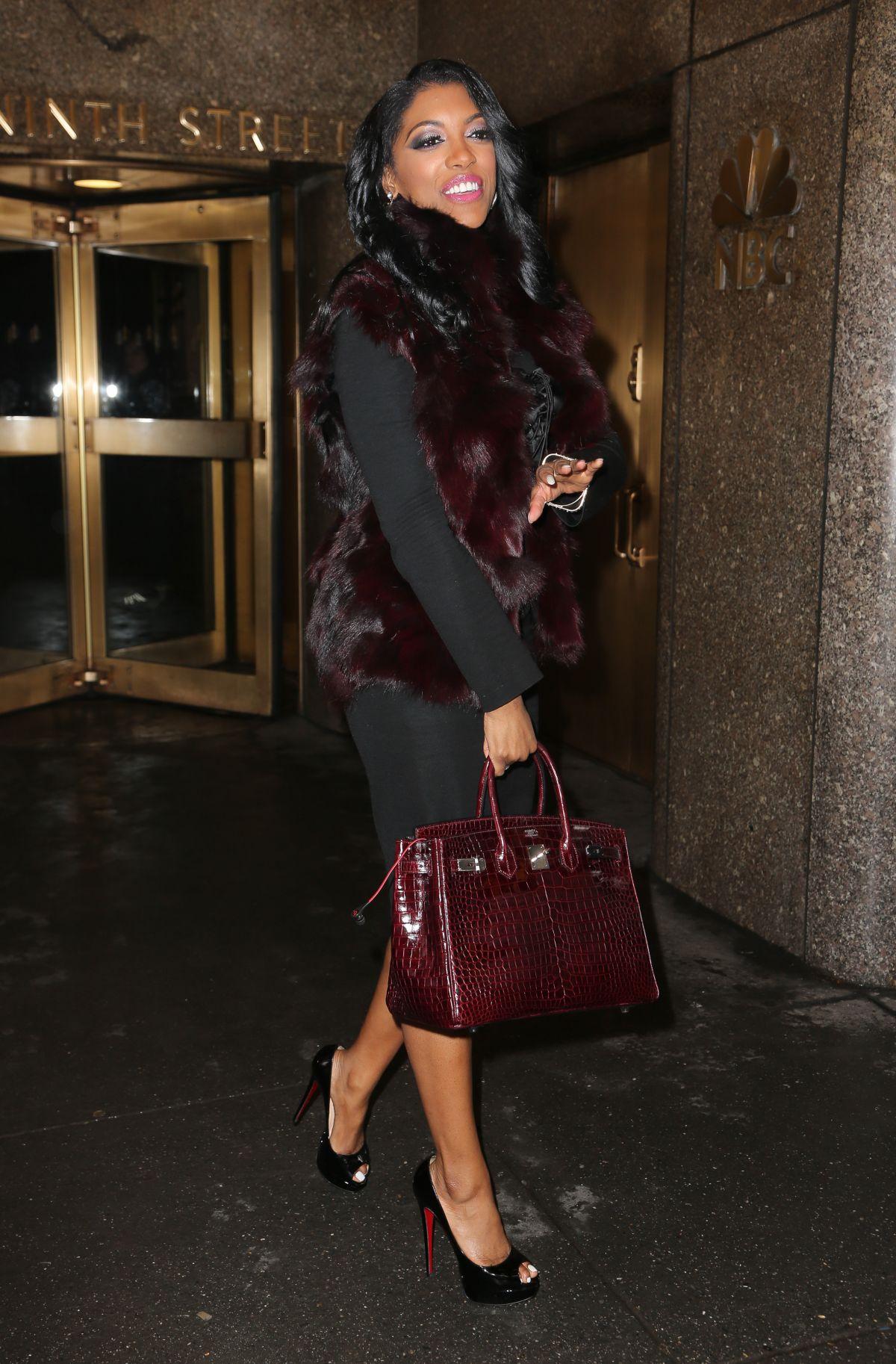 price of hermes bag - PORSHA WILLIAMS Leaving NBC Studios in New York - HawtCelebs ...