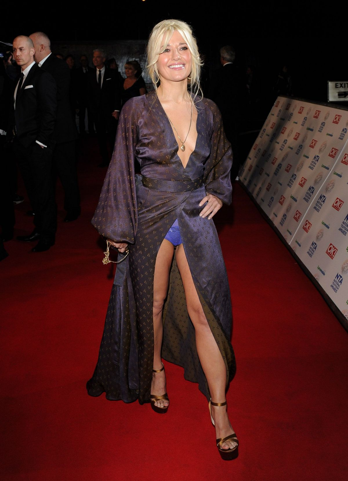 RACHEL WILDE at 2014 National Television Awards in London