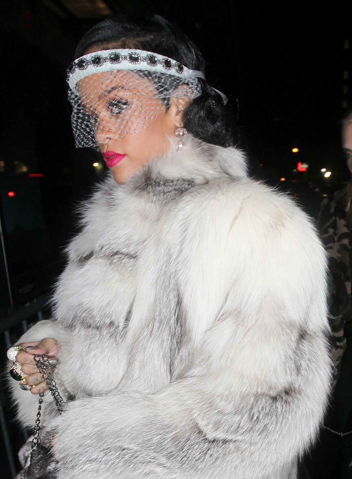 RIHANNA Arrives at the 40/40 Club in New York