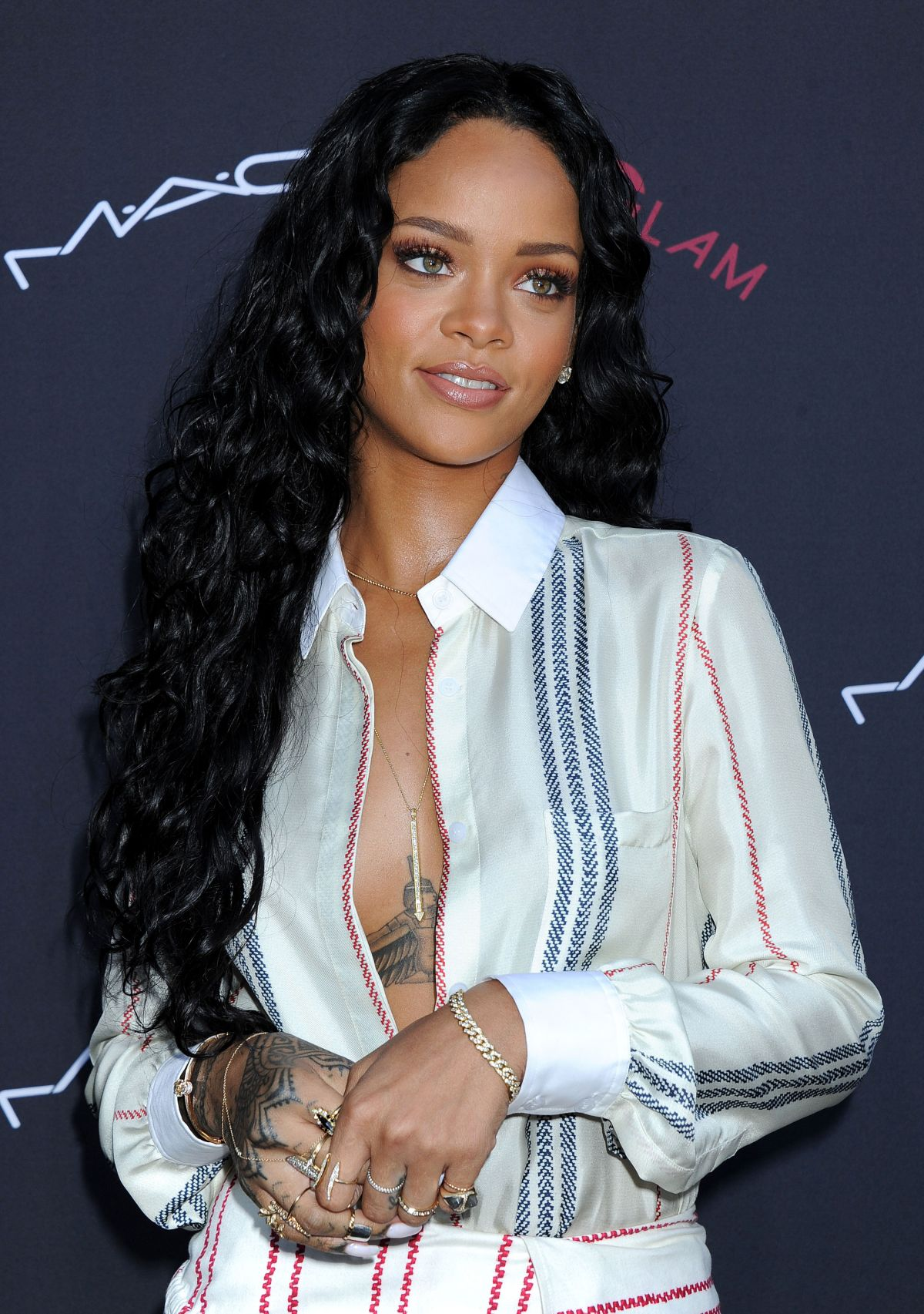 RIHANNA at 2014 Roc Nation Pre-Grammy Brunch in Beverly Hills