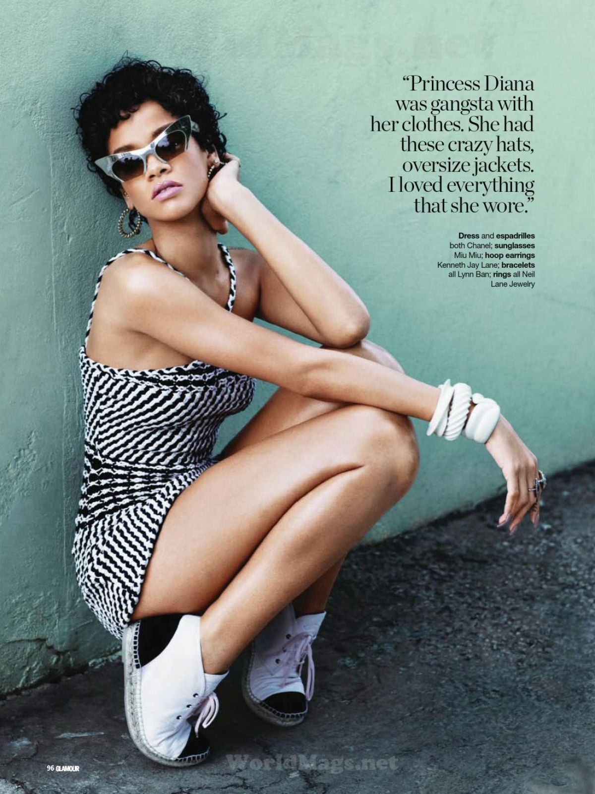 RIHANNA in Glamour Magazine, South Africa February 2014 Issue ...