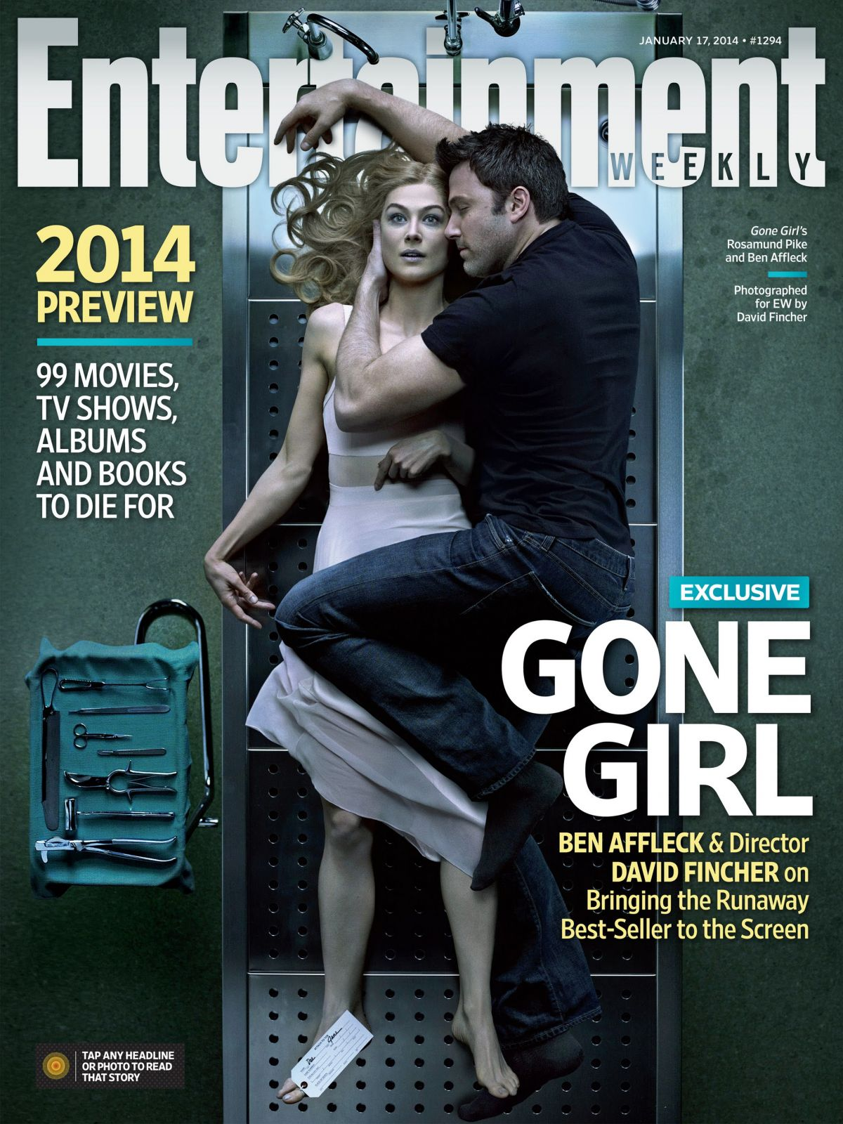 ROSAMUND PIKE and Ben Affleck on the Cover of Entertainment Weekly    Rosamund Pike 2014