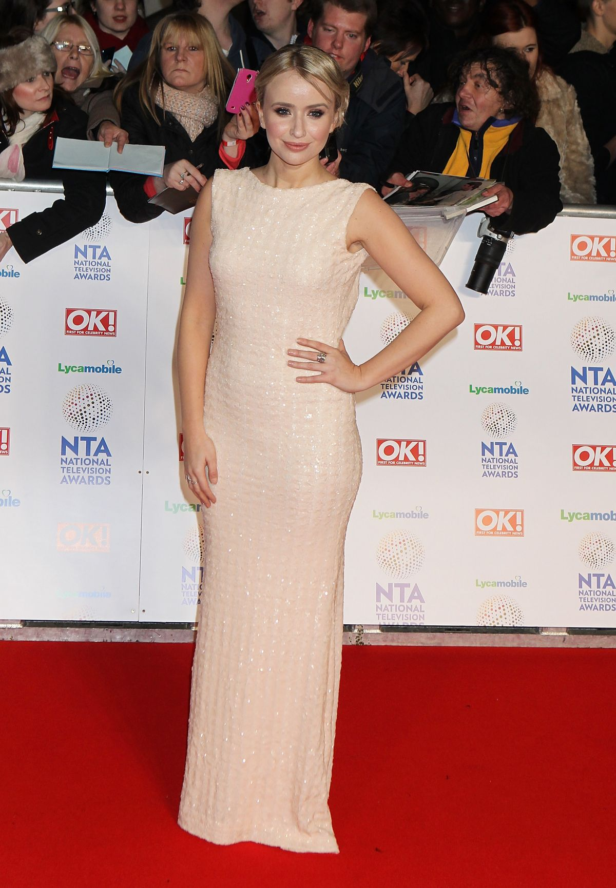 SAMMY WINWARD at 2014 National Television Awards in London