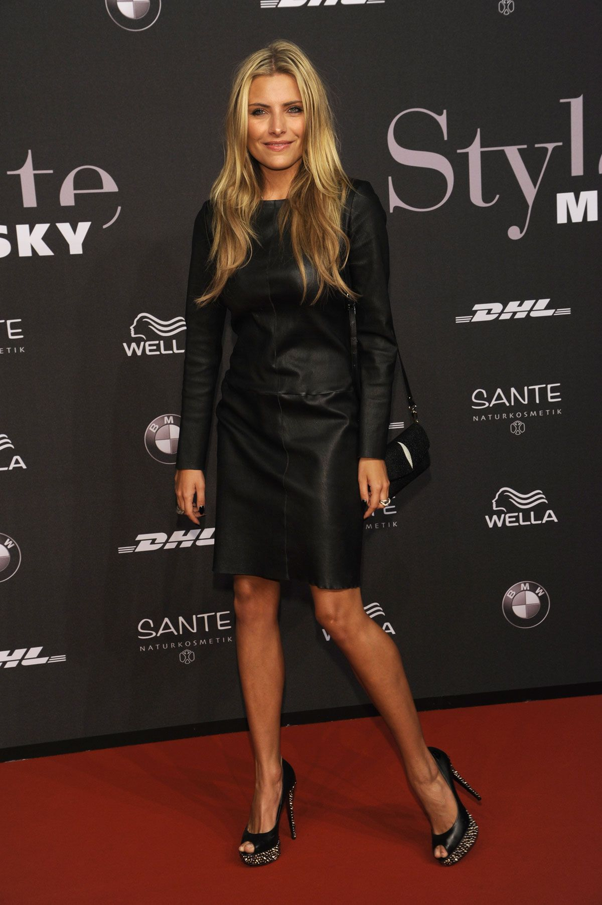 sophia thomalla at mercedes benz fashion week in berlin hawtcelebs. Black Bedroom Furniture Sets. Home Design Ideas