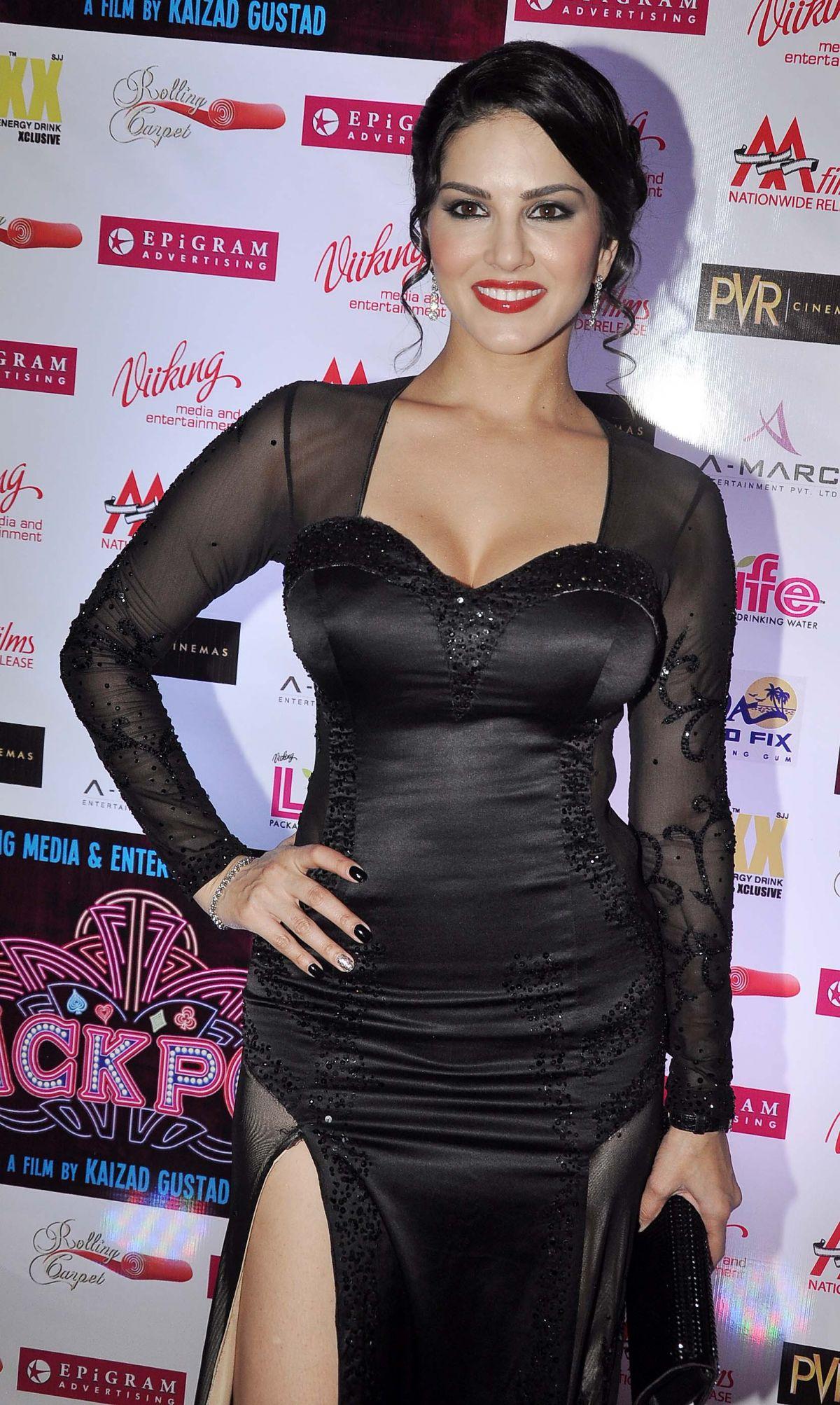 SUNNY LEONE at Jackpot Premiere in Mumbai