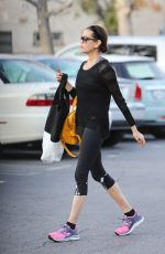 TERI HATCHER in Tights Shopping at Whole Foods in Studio City