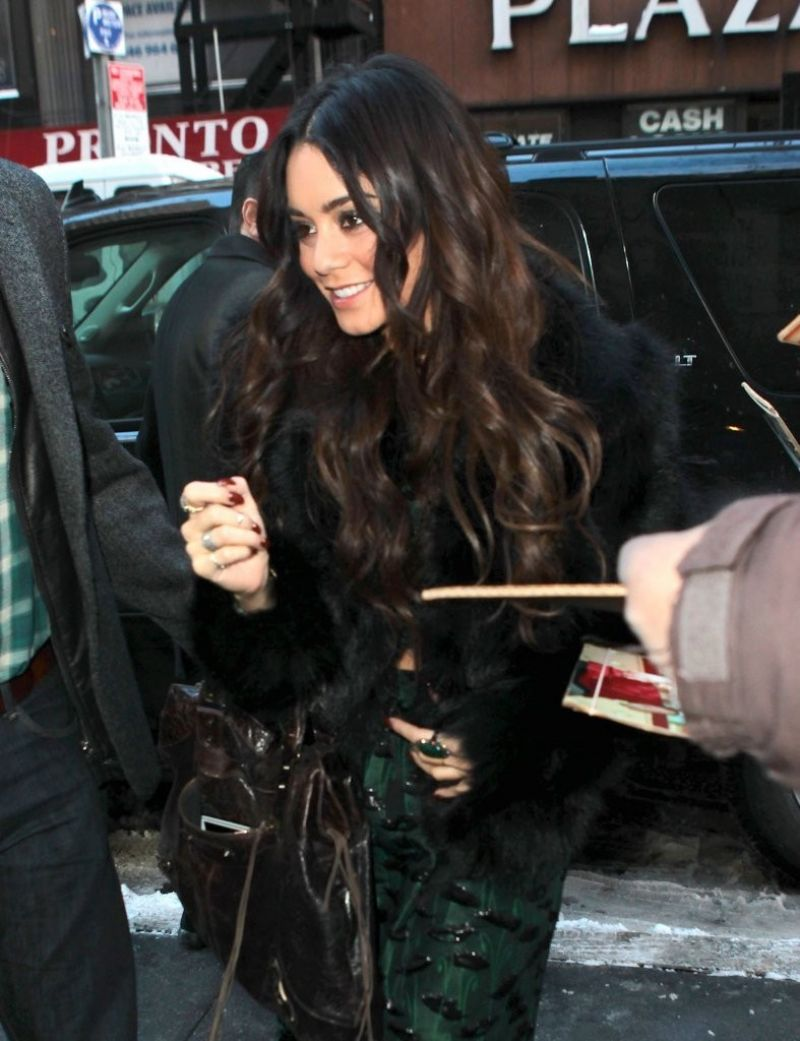 VANESSA HUDGENS Arrives at The Today Show in New York