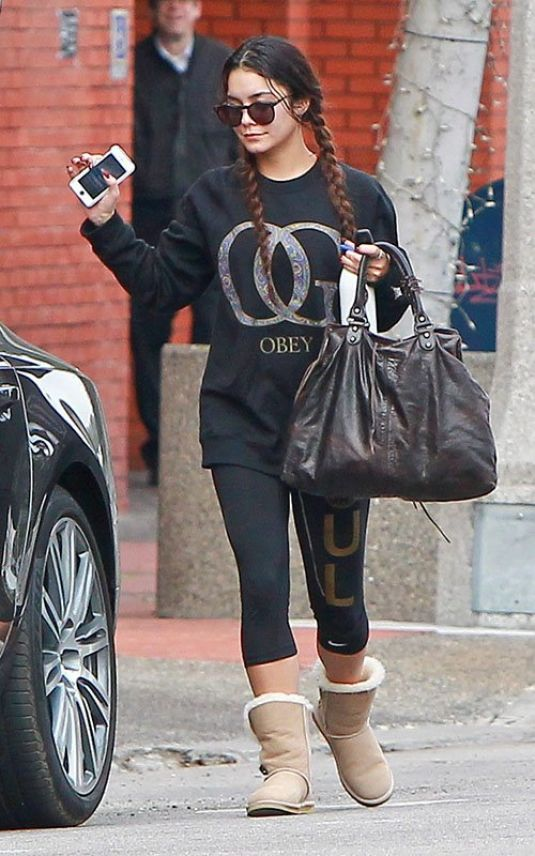 VANESSA HUDGENS Leaves a Gym in Studio City 2601