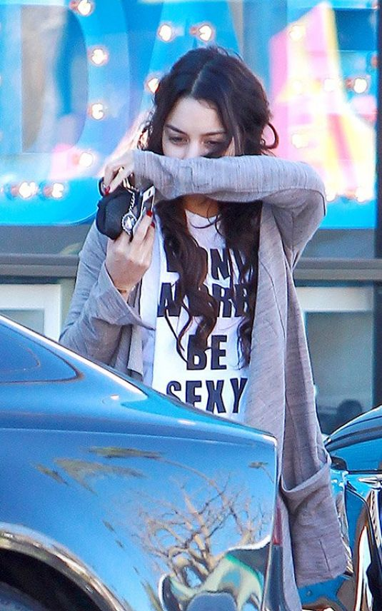 VANESSA HUDGENS Leavs a Gym in Los Angeles