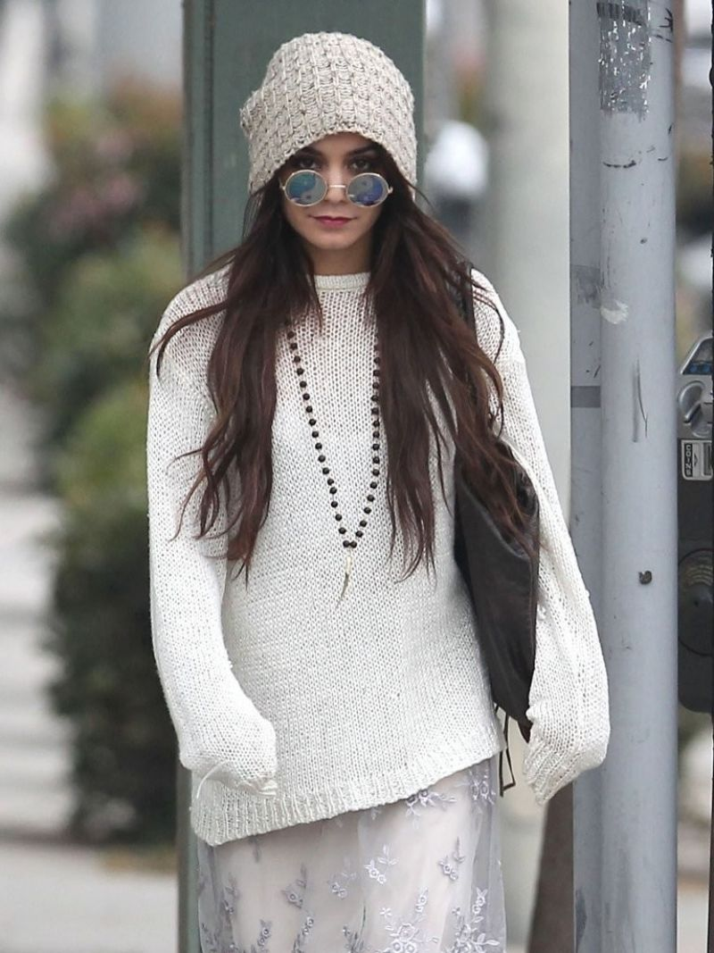 VANESSA HUDGENS Out and About in Beverly Hills