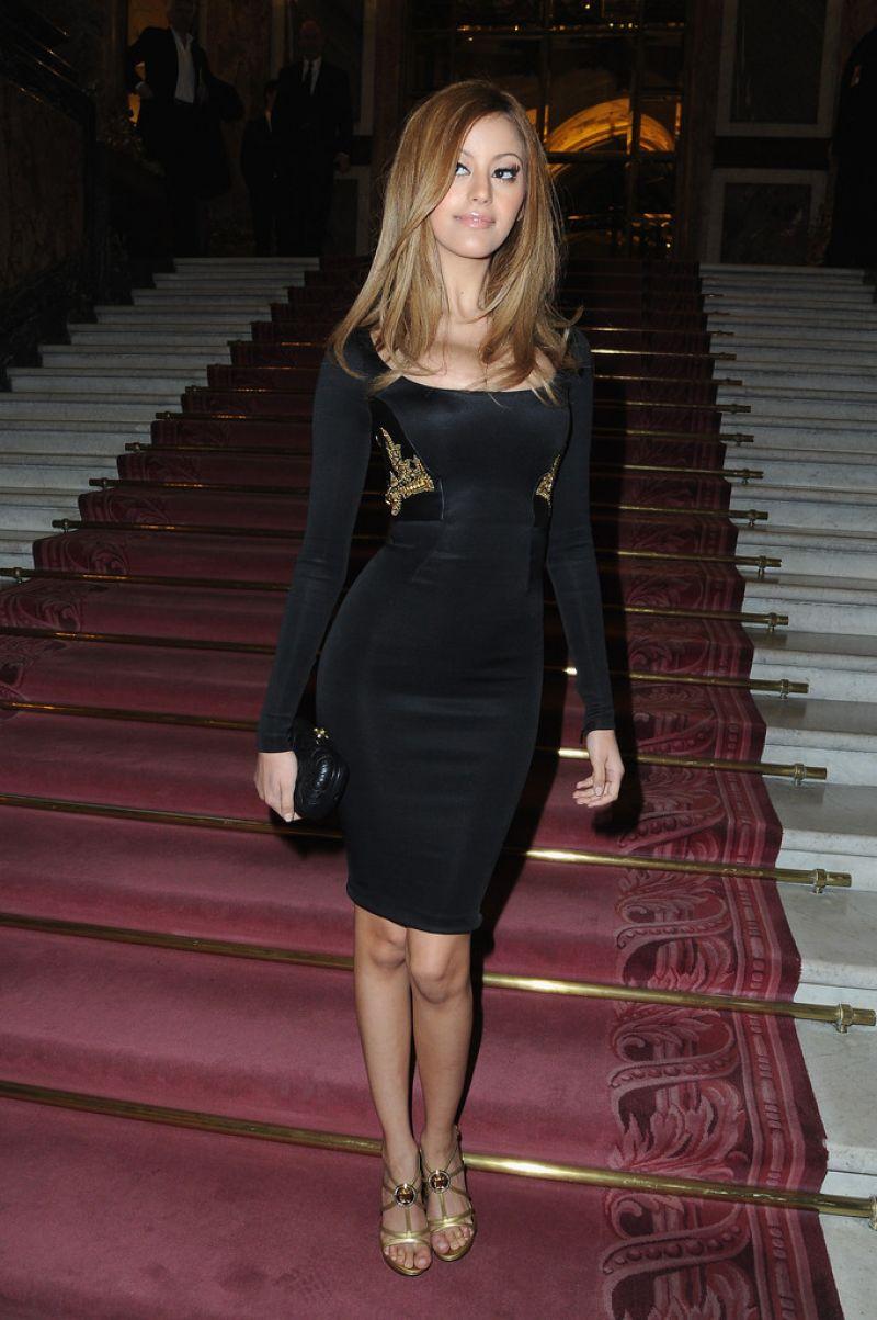 ZAHIA DEHAR at Atelier Versace Fashion Show in Paris