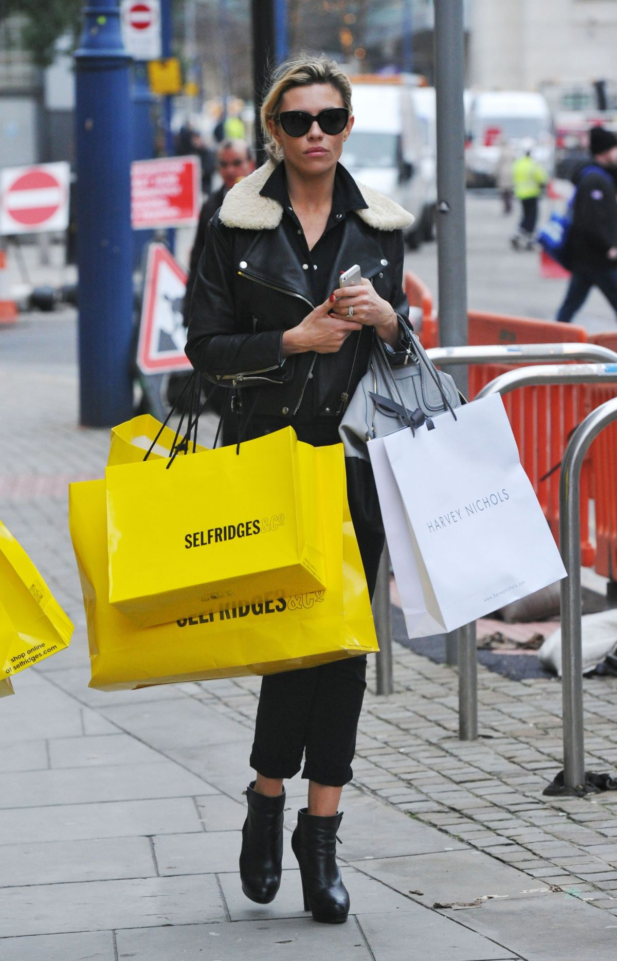 ABIGAIL ABBEY CLANY Out Shopping in Manchester