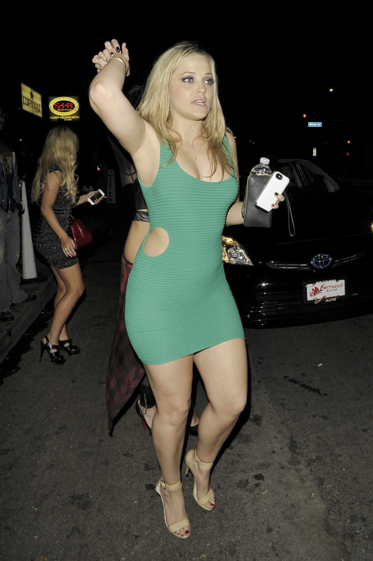 ALEXIS TEXAS Leaves a Nightclub in Hollywood