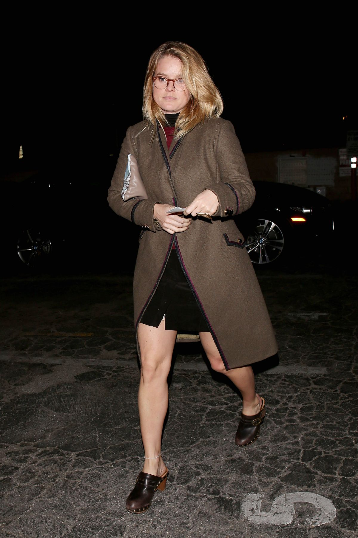 ALICE EVE Leaves Matsuhisa Restaurant in West Hollywood