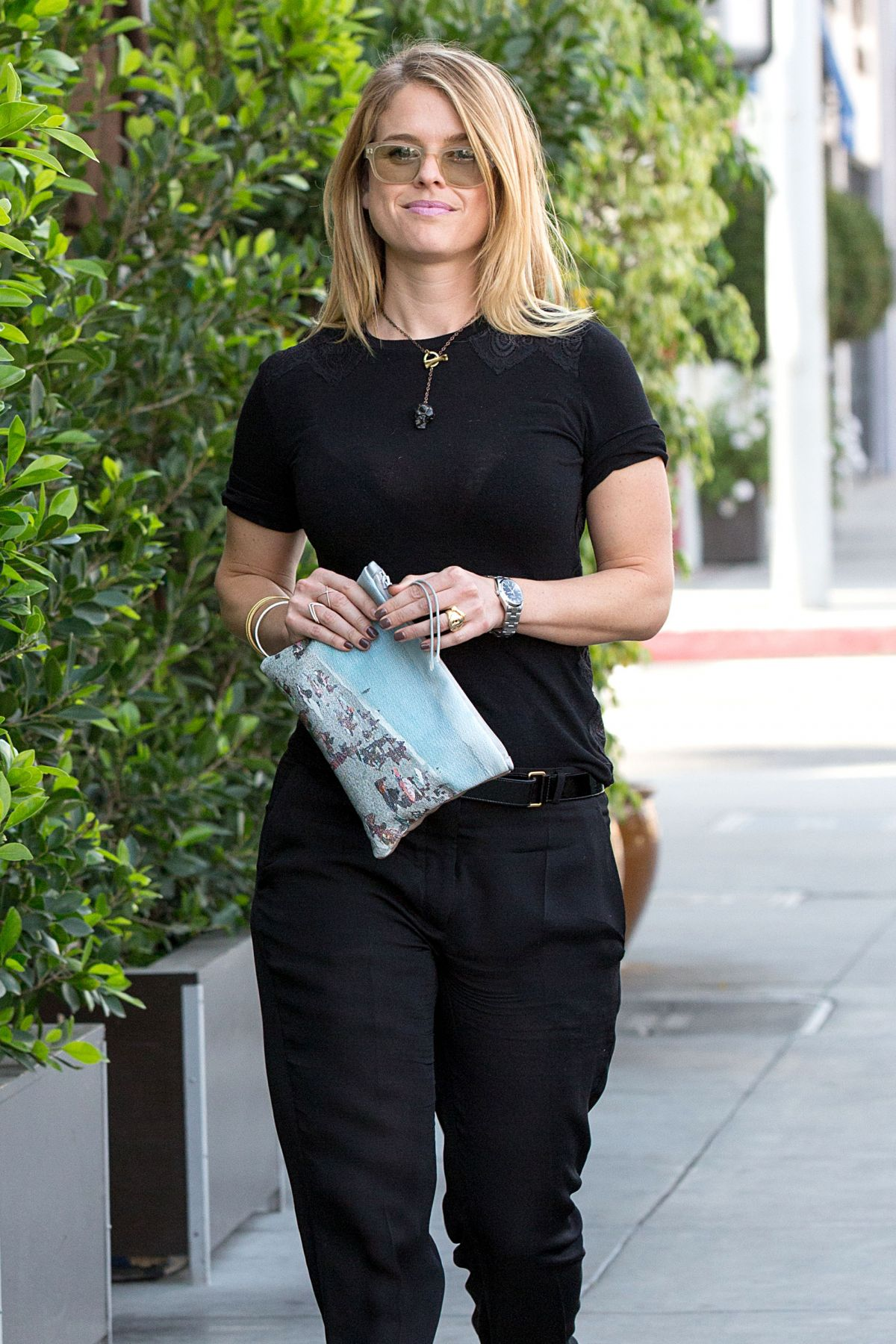 ALICE EVE Out and About in Beverly Hills