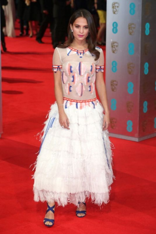 ALICIA VIKANDER at 2014 BAFTA Awards in London