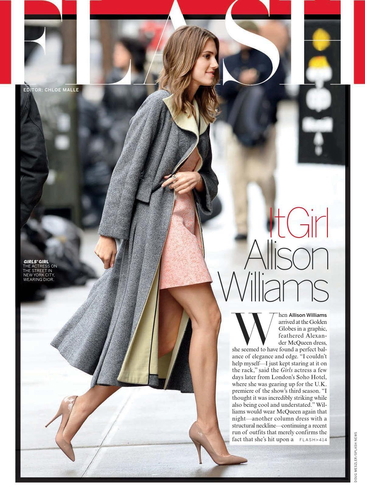 ALLISON WILLIAMS in Vogue Magazine, March 2014 Issue