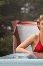 AMY WILLERTON in Bikini in a Hot Tube in Switzerland