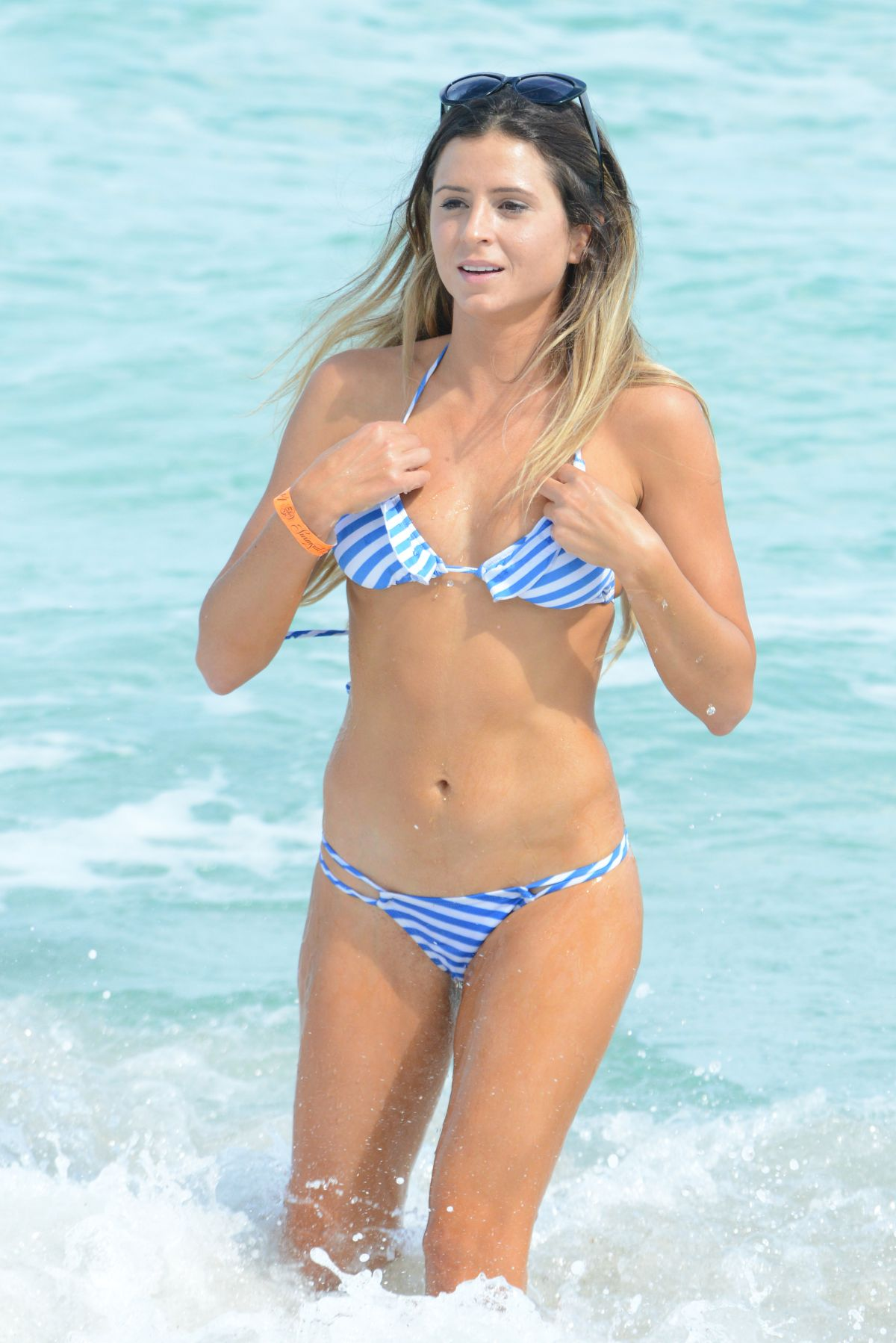 ANASTASIA ASHLEY in Bikini at a Beach in Miami