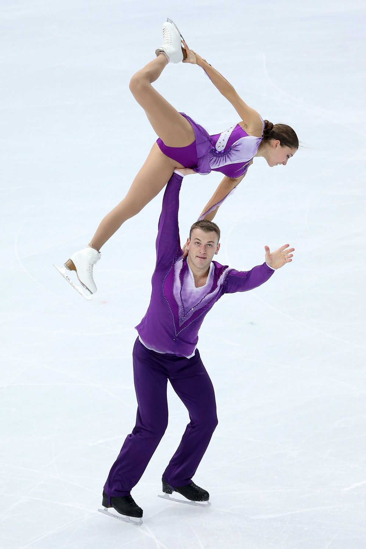 ANDREA DAVIDOVICH and Evgeni Krasnopolski at 2014 Winter Olympics in Sochi
