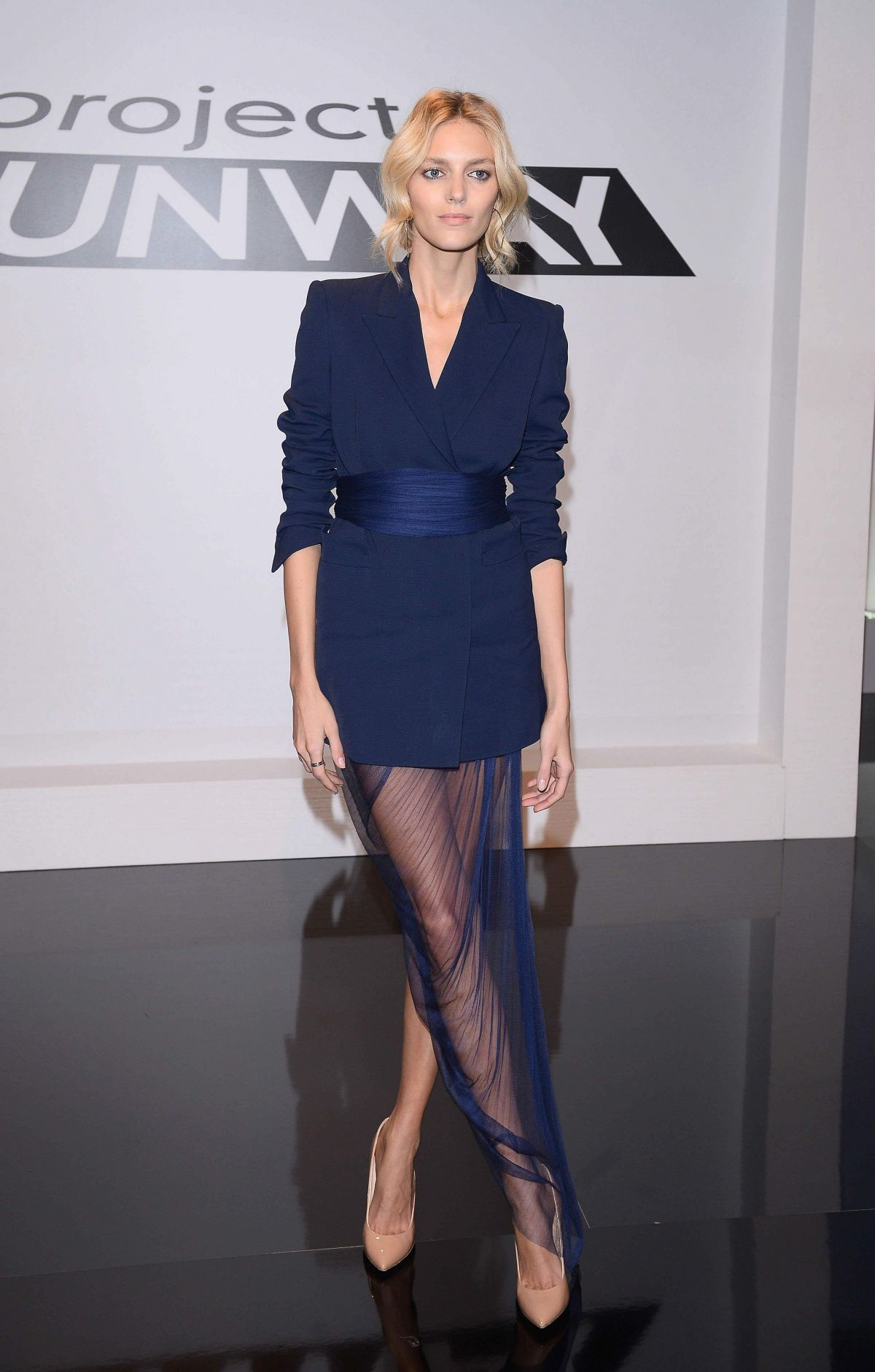 ANJA RUBIK at Project Runway Photocall in Warsaw