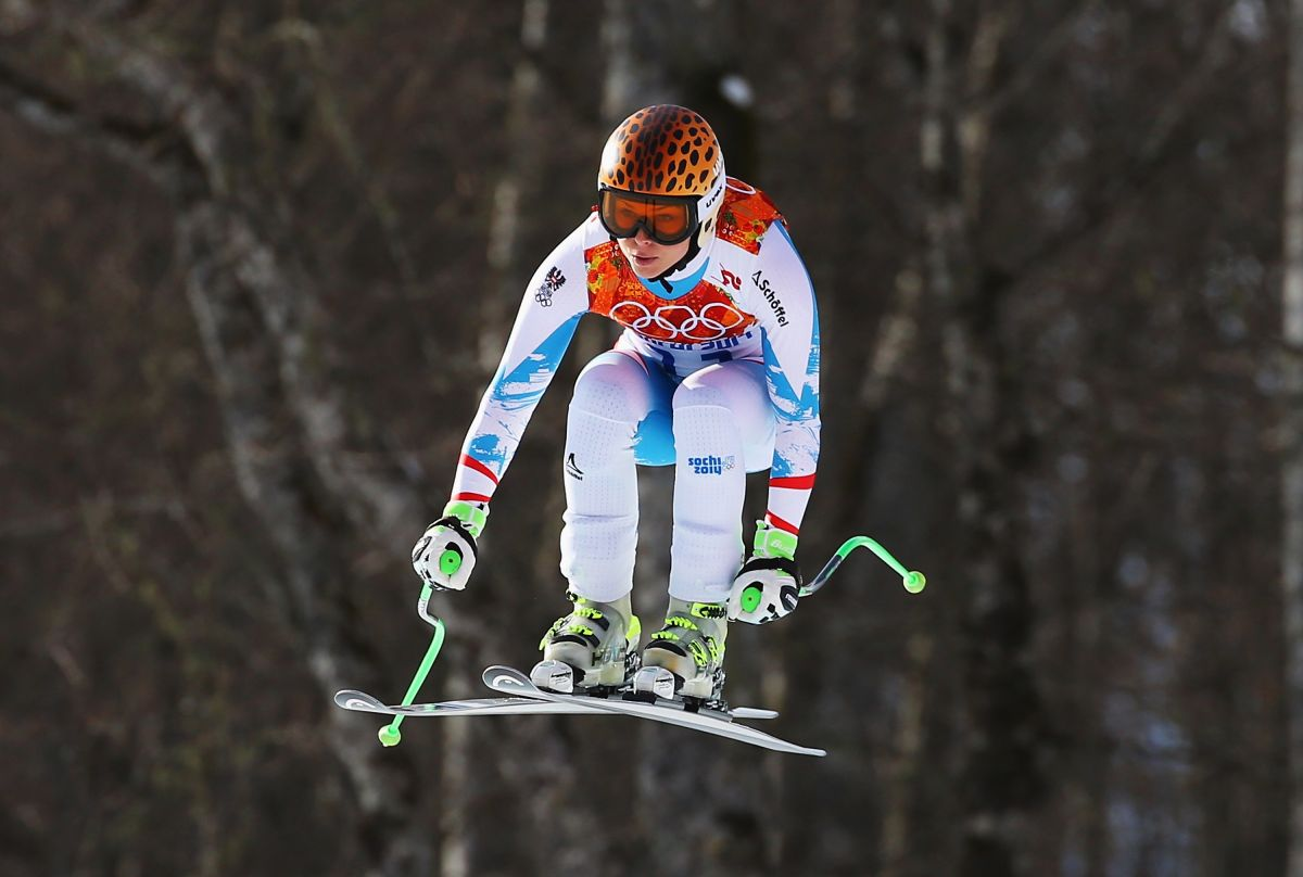 ANNA FENNINGER at 2014 Winter Olympics in Sochi