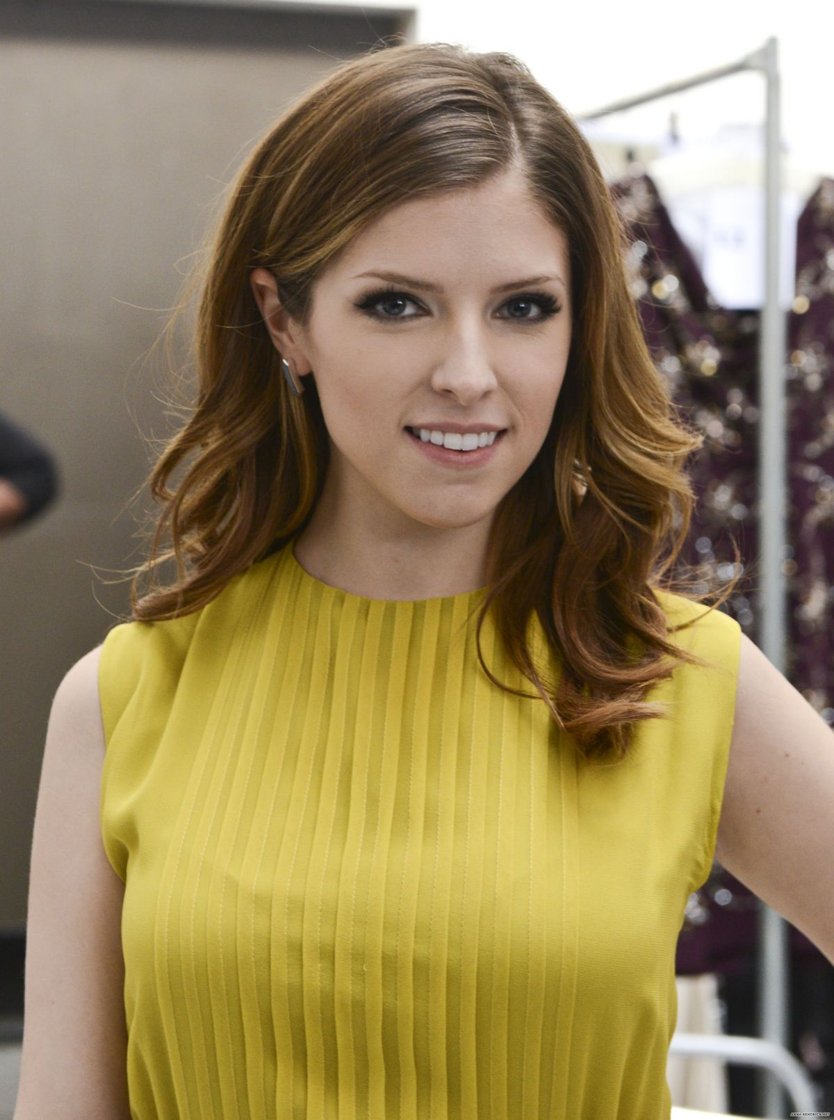 ANNA KENDRICK at Jenny packham Fall 2014 Fashion Show in New York