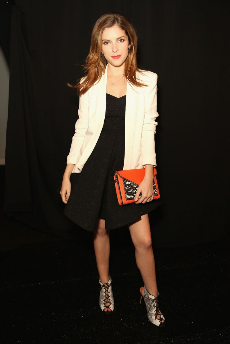 ANNA KENDRICK at Rebecca Minkoff Spring 2014 Fashion Show in New York