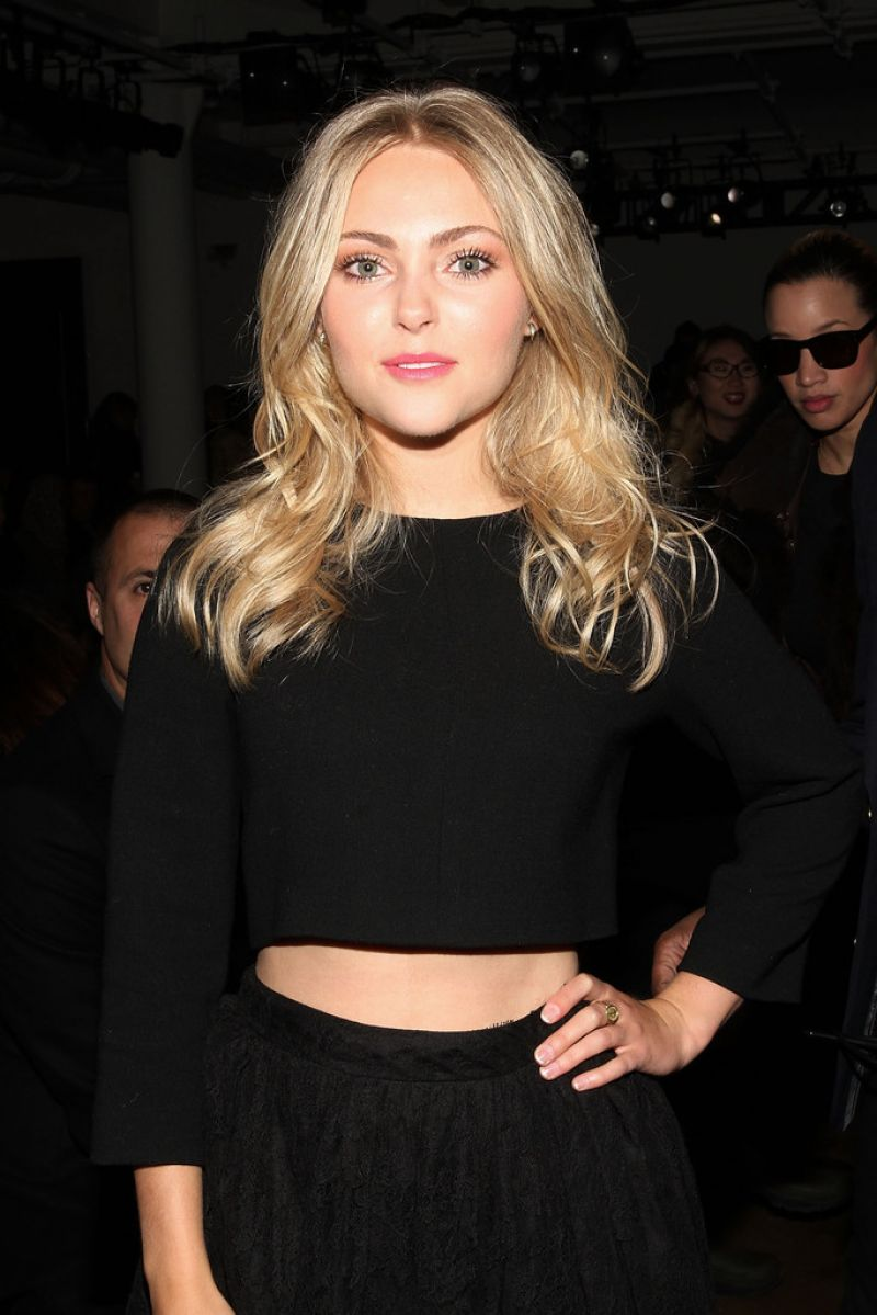 ANNASOPHIA ROBB at Houghton Fashion Show in New York