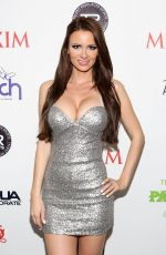 APRIL ROSE in Tight Dress at Maxim Big Game Weekend in New York