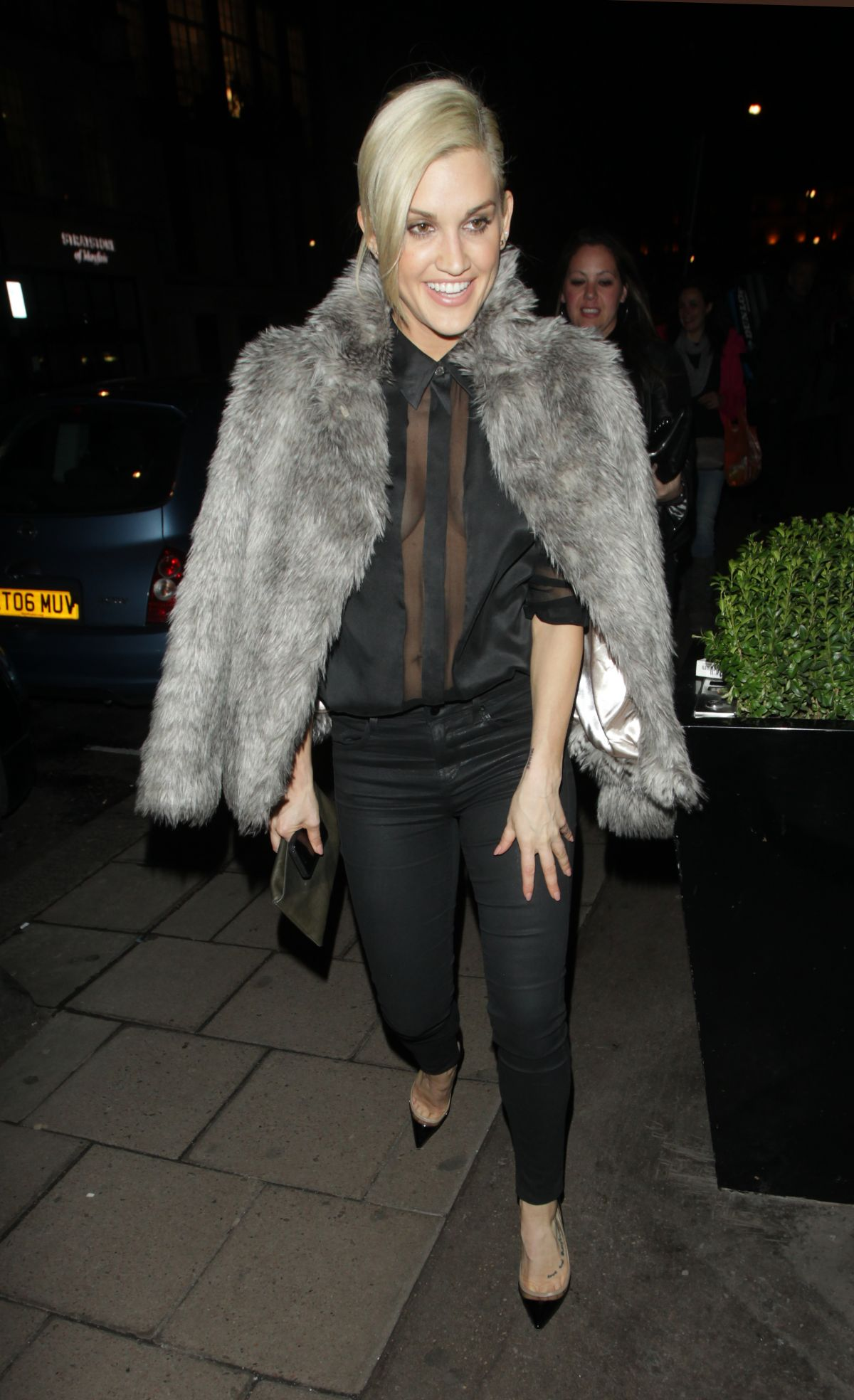 ASHLEY ROBERTS at Arrives Mayfair Hotel in London