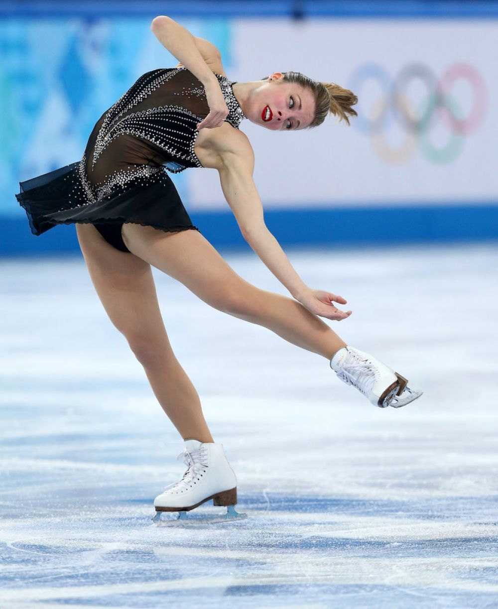 ASHLEY WAGNER at Figure Skating Ladies Short Program in Sochi