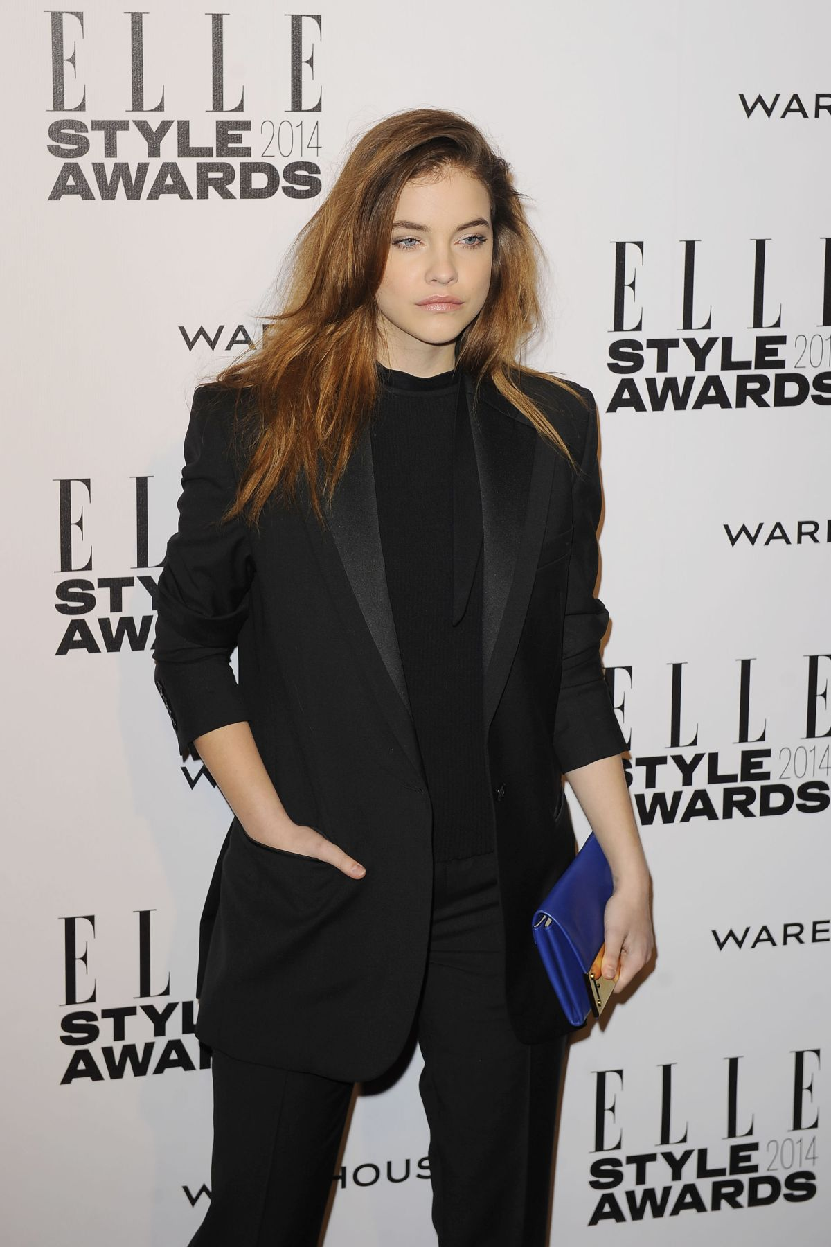 BARBARA PALVIN at 2014 Elle Style Awards in London