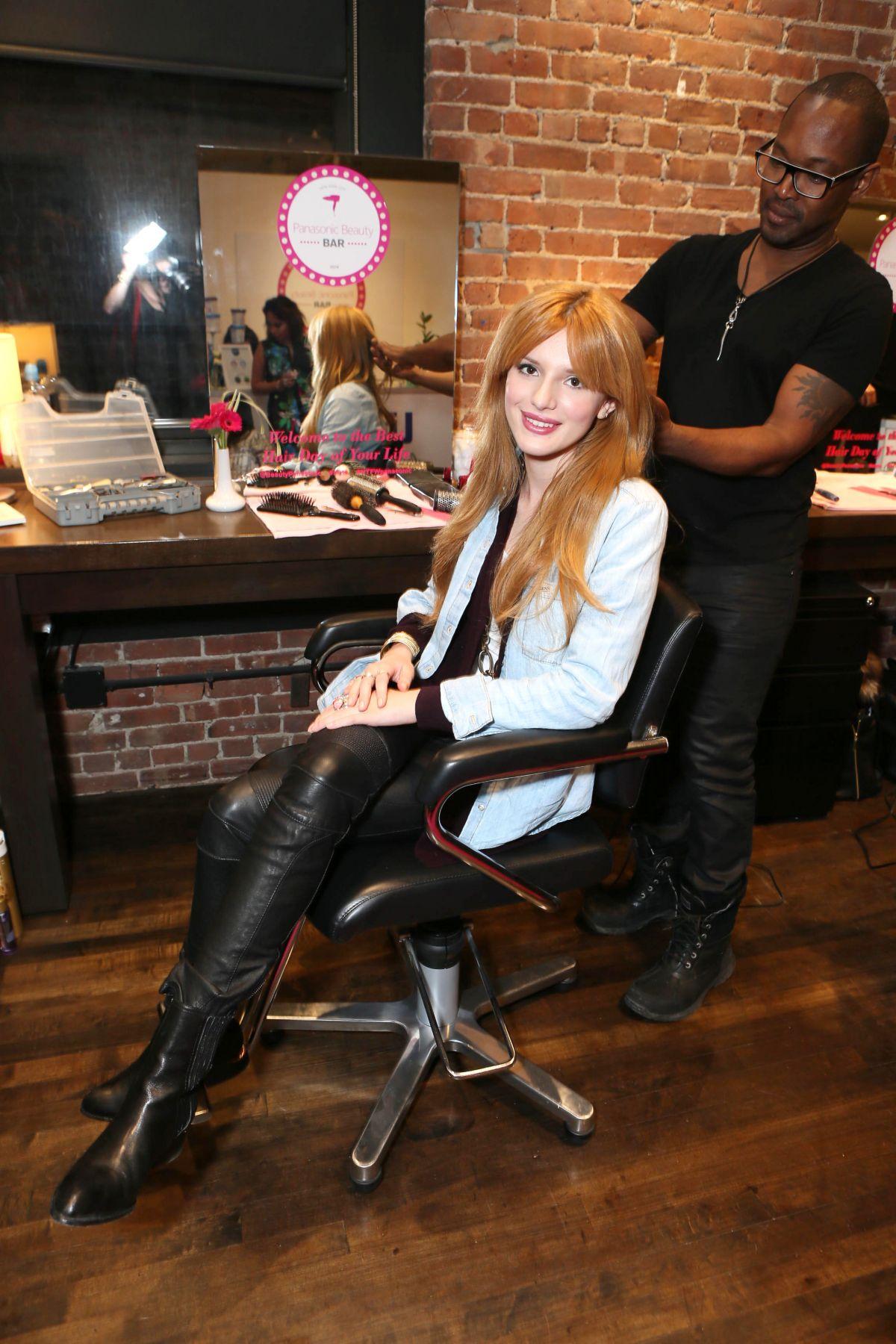 BELLA THORNE at Panasonic Beauty Bar at Salon SCK